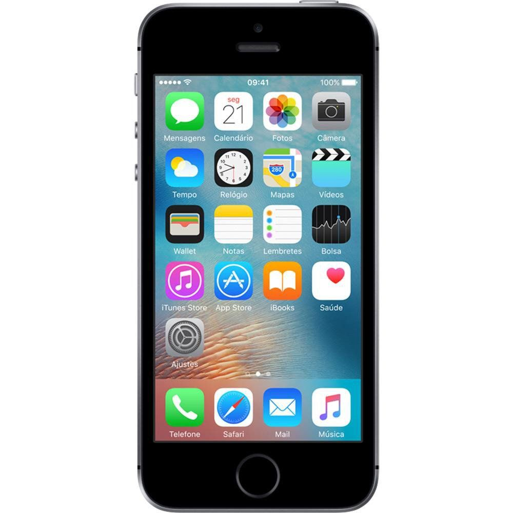 Celular Iphone Se 32Gb Space Gray Mp822Br/A