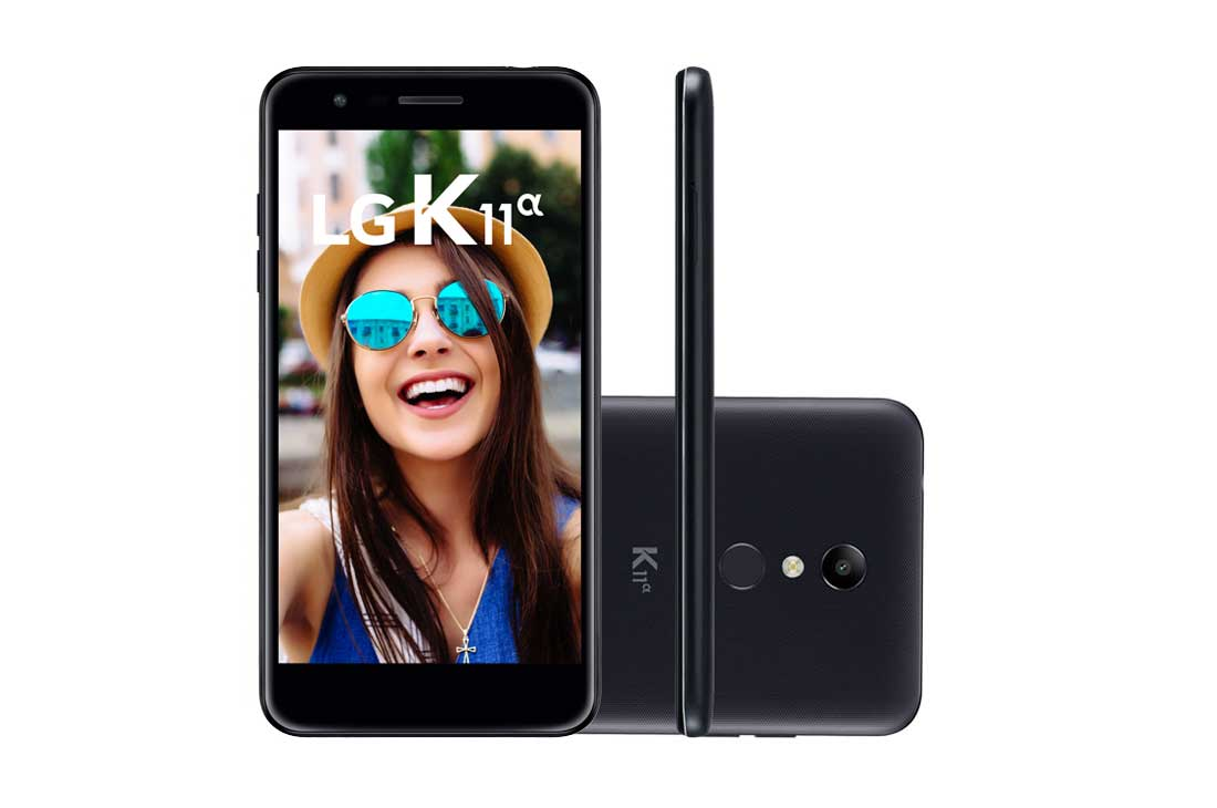Celular Lg K11 Alpha Lm-X410Btw Oc| 16Gb| 2Gb Ram| 4G| 8Mp| 5,3 Hd| Preto