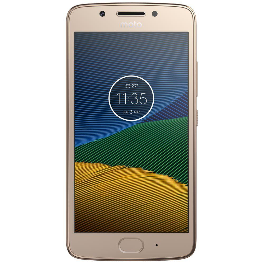 Celular Moto G5S Xt1792 Oc|2Gbram|32Gb|5,2Full Hd|4G|16Mp|Ouro
