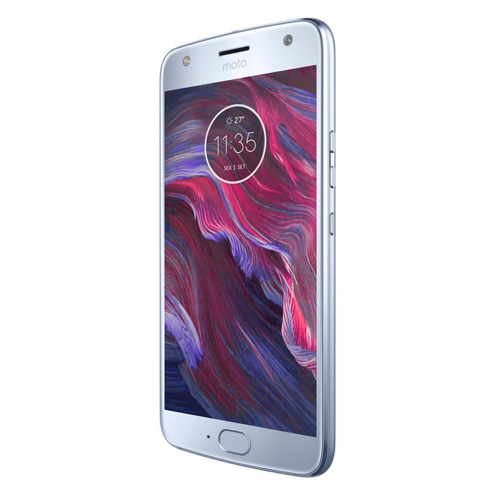 Celular Moto X4 Xt1900 Oc/3Gbram/32Gb/5,2Full Hd/4G/16Mp/Azul Topazio