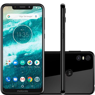 Celular Motorola One Xt1941 Oc| 4Gbram| 64Gb| 5,9| 4G| 13Mp| Preto