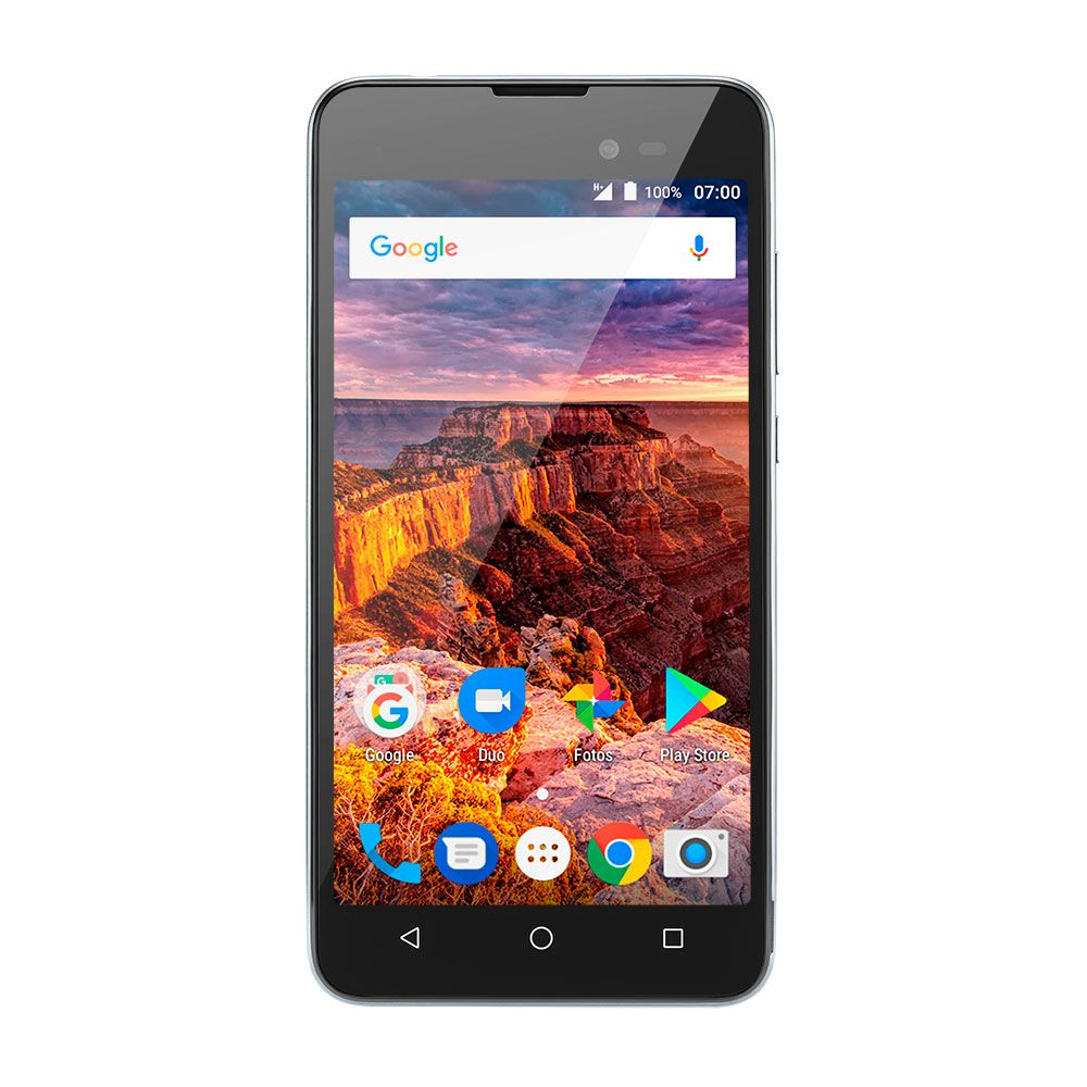 Celular Multilaser Ms50L Qc|8Gb|3G|1Gb Ram|Preto/Grafite|Nb706