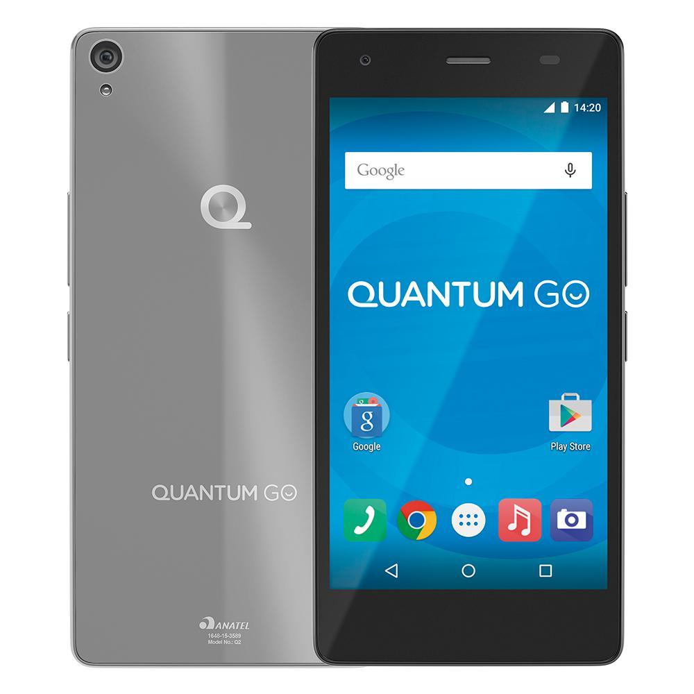 Celular Quantum Go Octacore 4G Steel Gray 16Gb|2Gb Ram|13Mp Chumbo