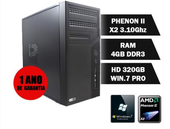 Cpu Amd Phenom Ii X2 Z550 3.10Ghz| 4Gbddr3| Hd320Gb| Dvdrw| Tec| Mou| Cxdesom| Win7Pro