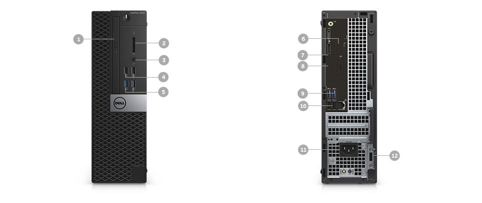 Cpu Dell Optiplex 3040 I5-6500 8Gb 1Tb Dvdrw Win10Pro