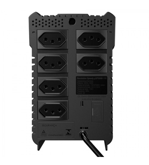 Estabilizador Monovolt Sms Revolution Speed 1000Va Preto - Usp1000S