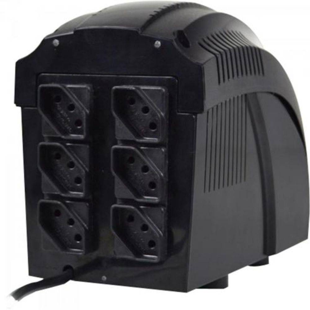 Estabilizador Ts Shara Powerest 1500 Bivolt| 115V 6 Tomadas Preto