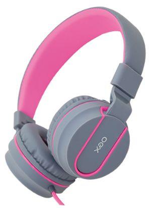 Fone De Ouvido Oex Headset Neon Hs106 Cinza| Rosa