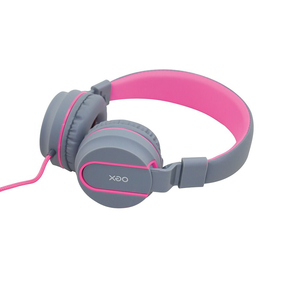 Fone De Ouvido Oex Headset Neon Hs106 Cinza|Rosa
