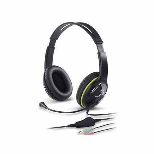 Fone De Ouvido Com Microfone Genius Hd-400A Verde Grafite