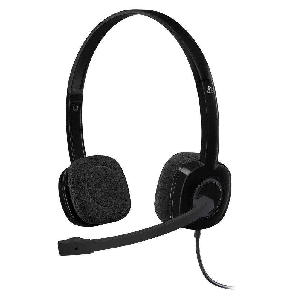 Fone De Ouvido Headset Logitech Preto H151