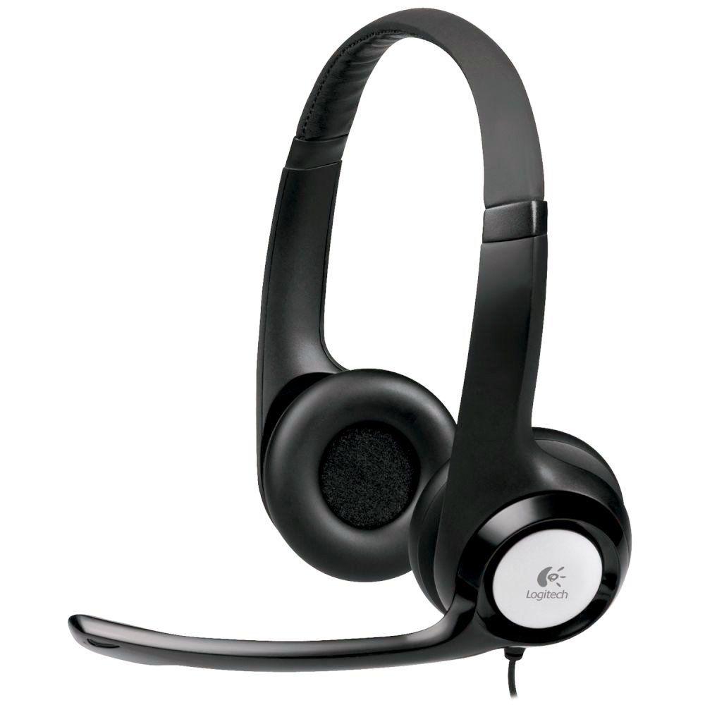 Fone De Ouvido Headset Logitech Preto H390 - Usb