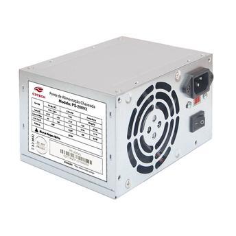 Fonte Atx 200W C3Tech Ps200V3 S| Cabo