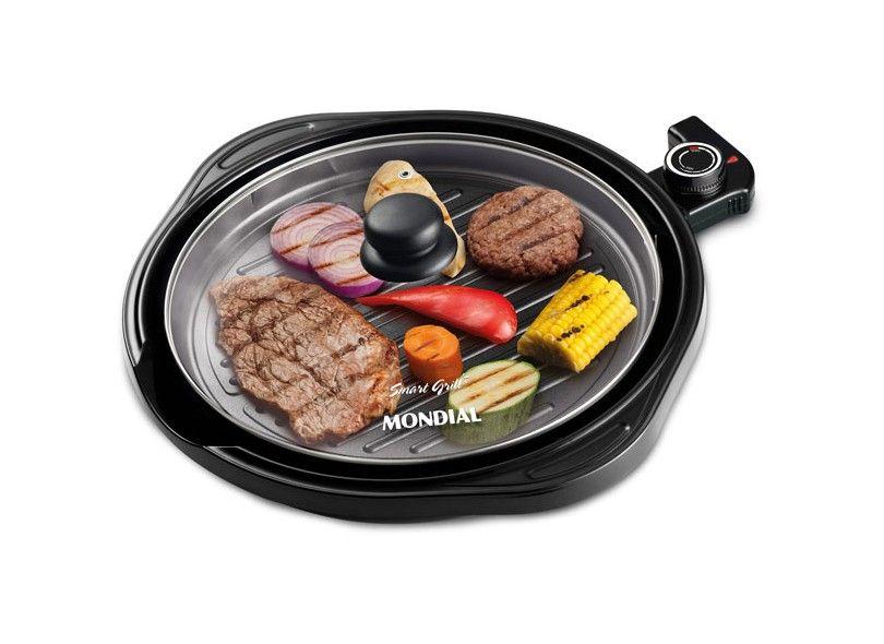 Grill Redondo Smart Grill Mondial G-04 - Preto 110V