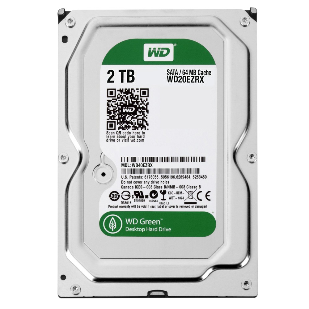 HD 2TB SATA WESTERN DIGITAL 64MB GREEN
