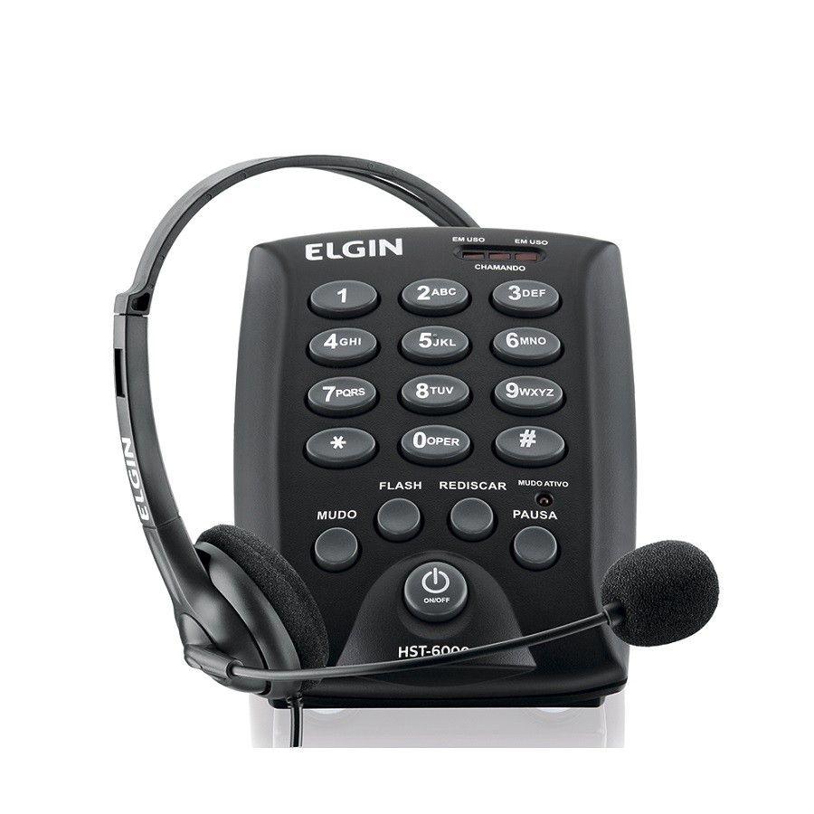 Headset Elgin Hst-6000 C  Base Discado Preta