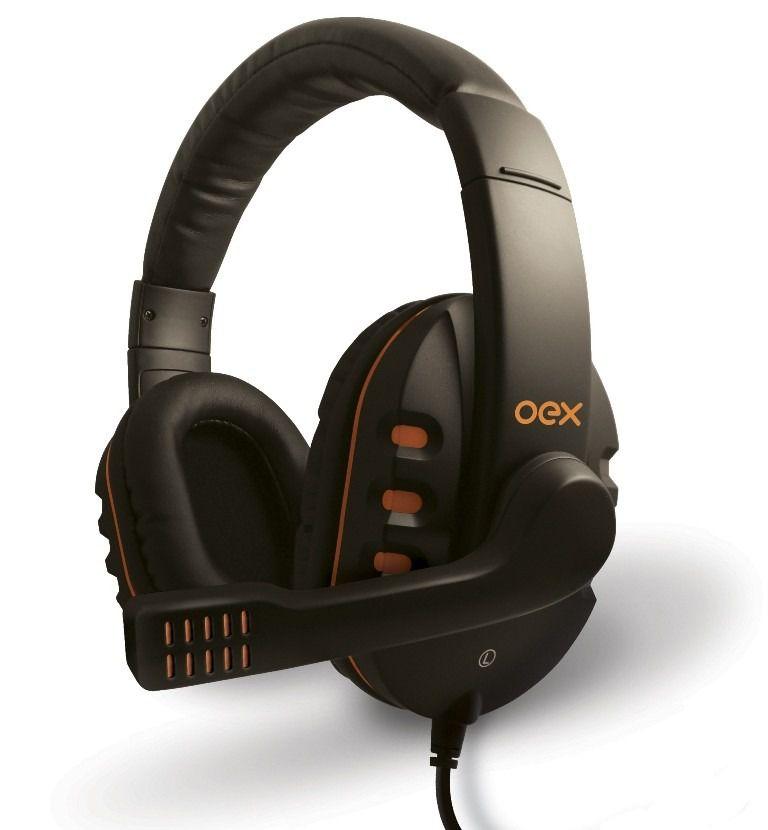 Headset Gamer Oex Hs200 Action C| Microfone Preto| Laranja