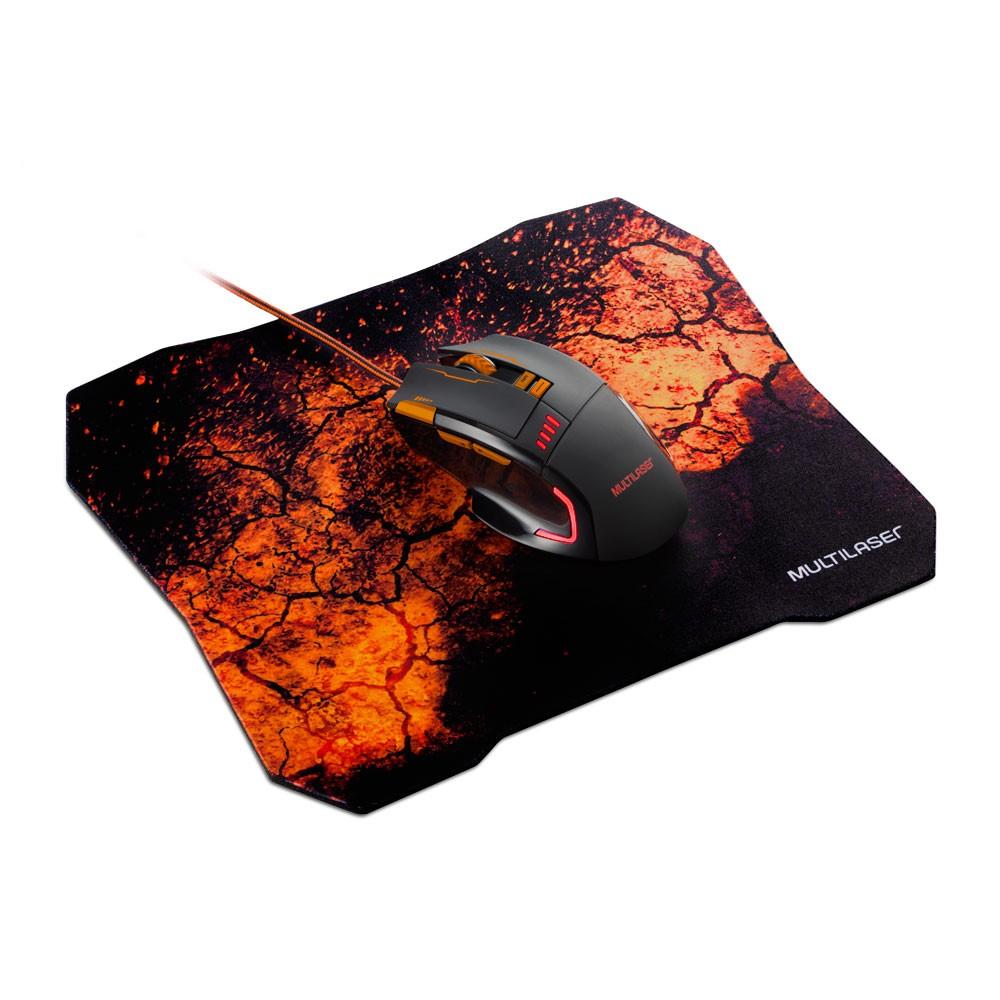 Kit Mouse Usb E Mouse Pad Gamer Multilaser Mo256