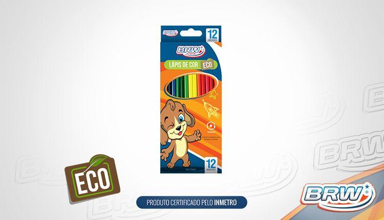 Lapis De Cor Plastico 12 Cores Redondo Brw