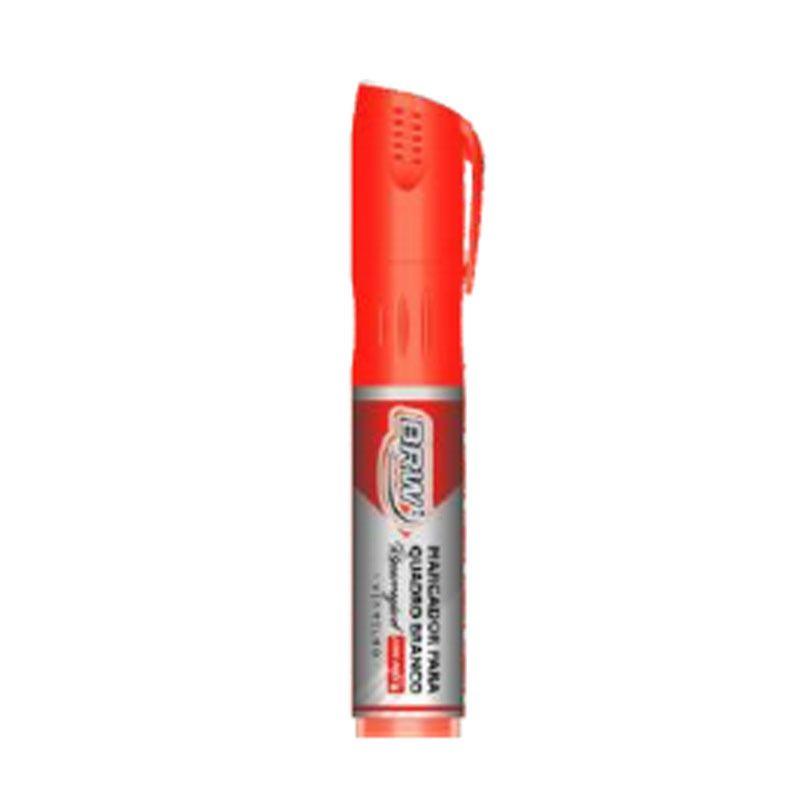 Marcador Quadro Branco Recarregavel Ca6023 Vermelho Brw