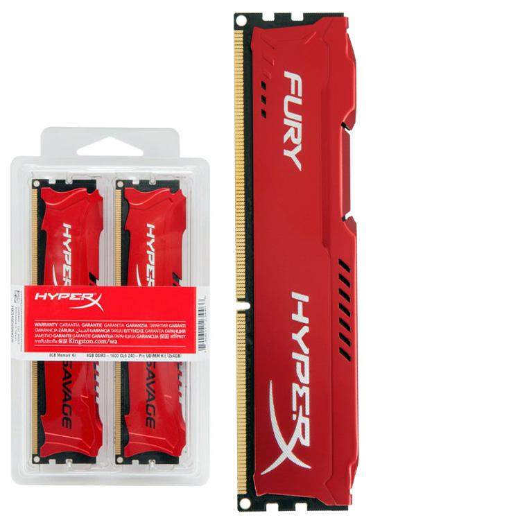 Memoria 8Gb Ddr3 1600 Cl10 Hyperx Fury Vermelha Kingston