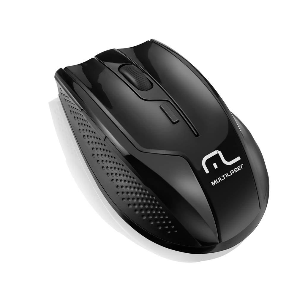 Mouse Wireless Usb 2.4 Ghz 1600 Dpi Mo221 Preto Multilaser