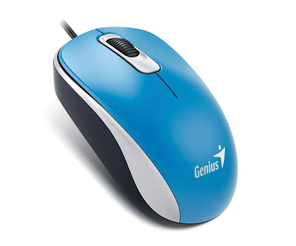 Mouse Usb Optico Azul Genius Dx-110
