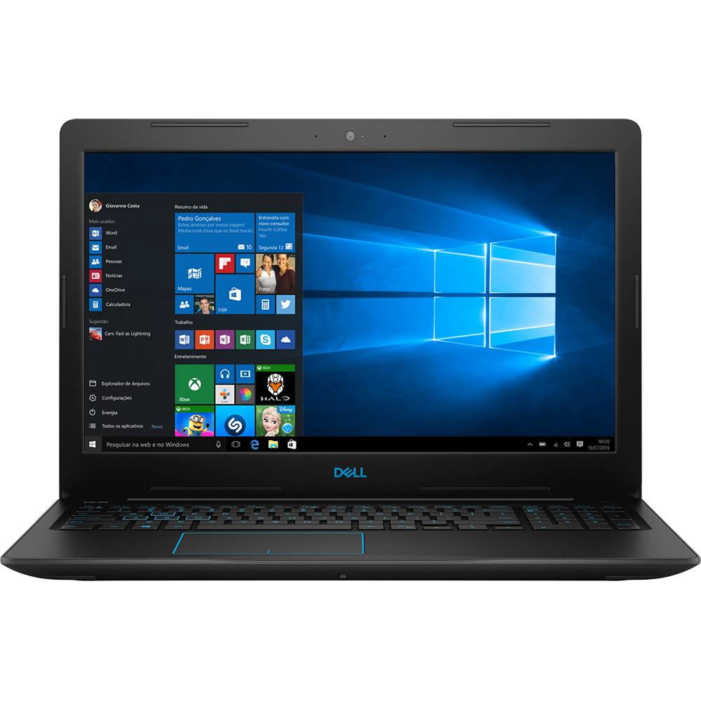 Nb Dell Gaming G3 3579 I7-8750H| 1Tb| 16Gb| 15| Gtx1050Ti(4Gb)| Win10Home Adv| Pto