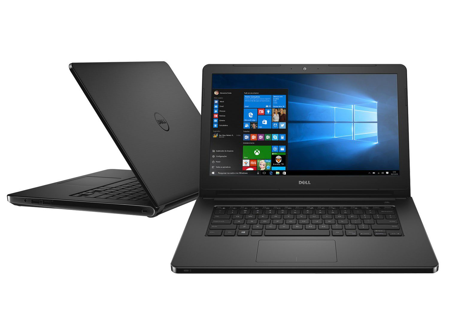 Nb Dell Inspiron 5458 I3-5005U 2.0|500Gb|4Gb|14|W10Home|Preto Ol