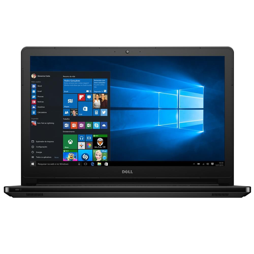 Nb Dell Inspiron 5566 I5-7200U 2.5| 1Tb| 4Gb| 15| Win10Home| Preto Ol