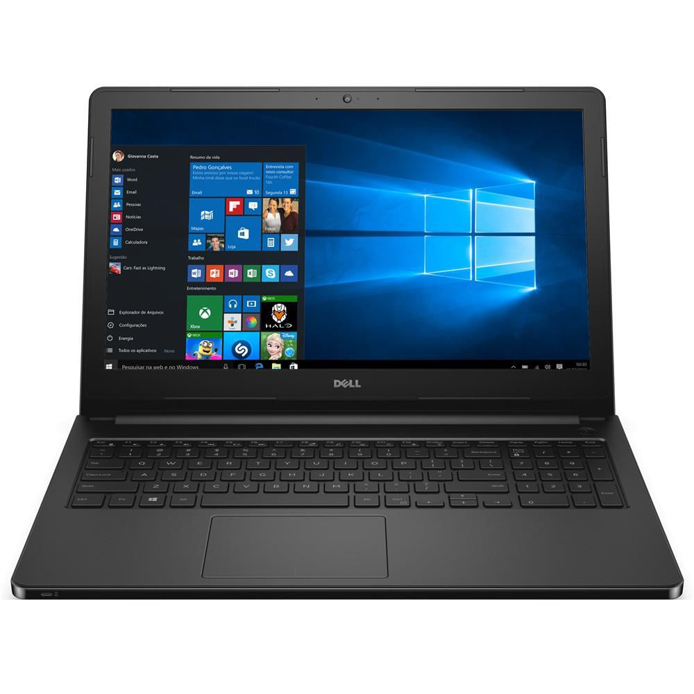 Nb Dell Inspiron 5566 I7-7500U| 1Tb| 8Gb| Cam| 15| Win10Pro| Preto