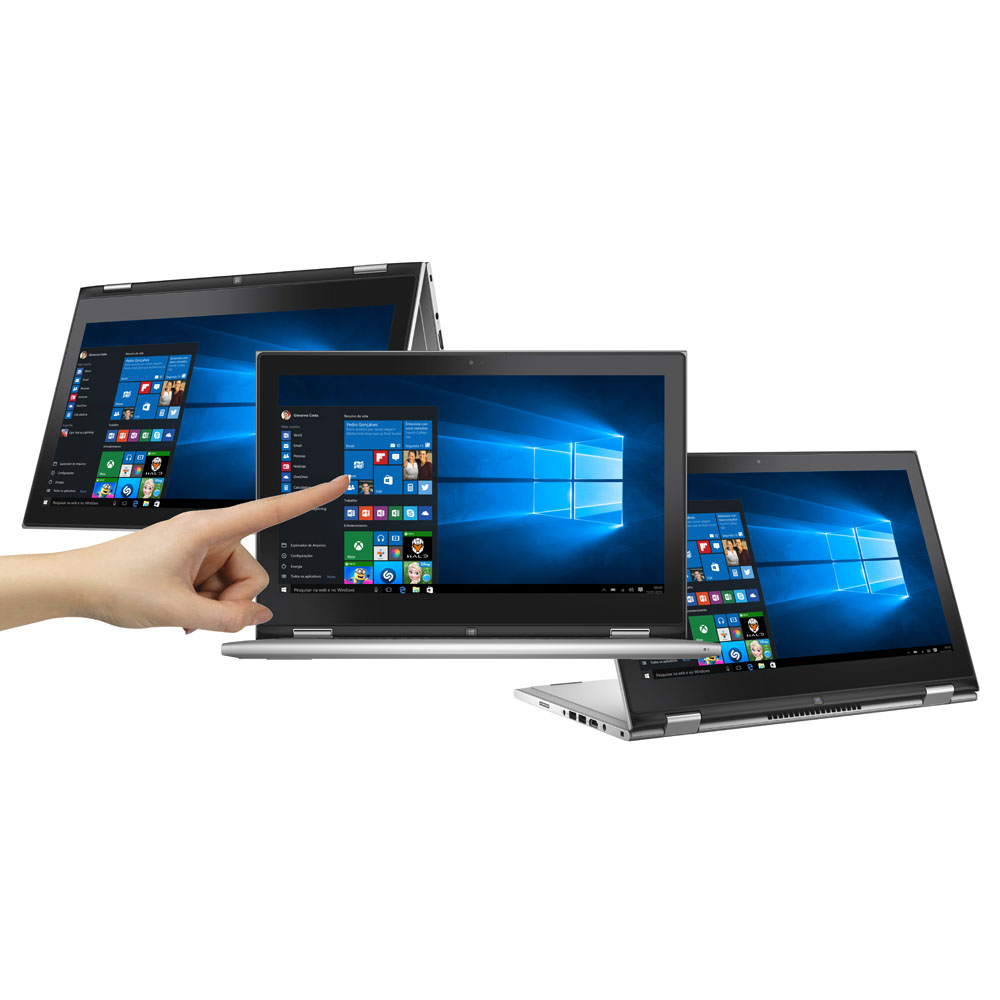 NOTEBOOK DELL INSPIRON 7359  I7 6500U 3.1GHZ| 500GB| 8GB| 13| TOUCH| W10PRO CINZA
