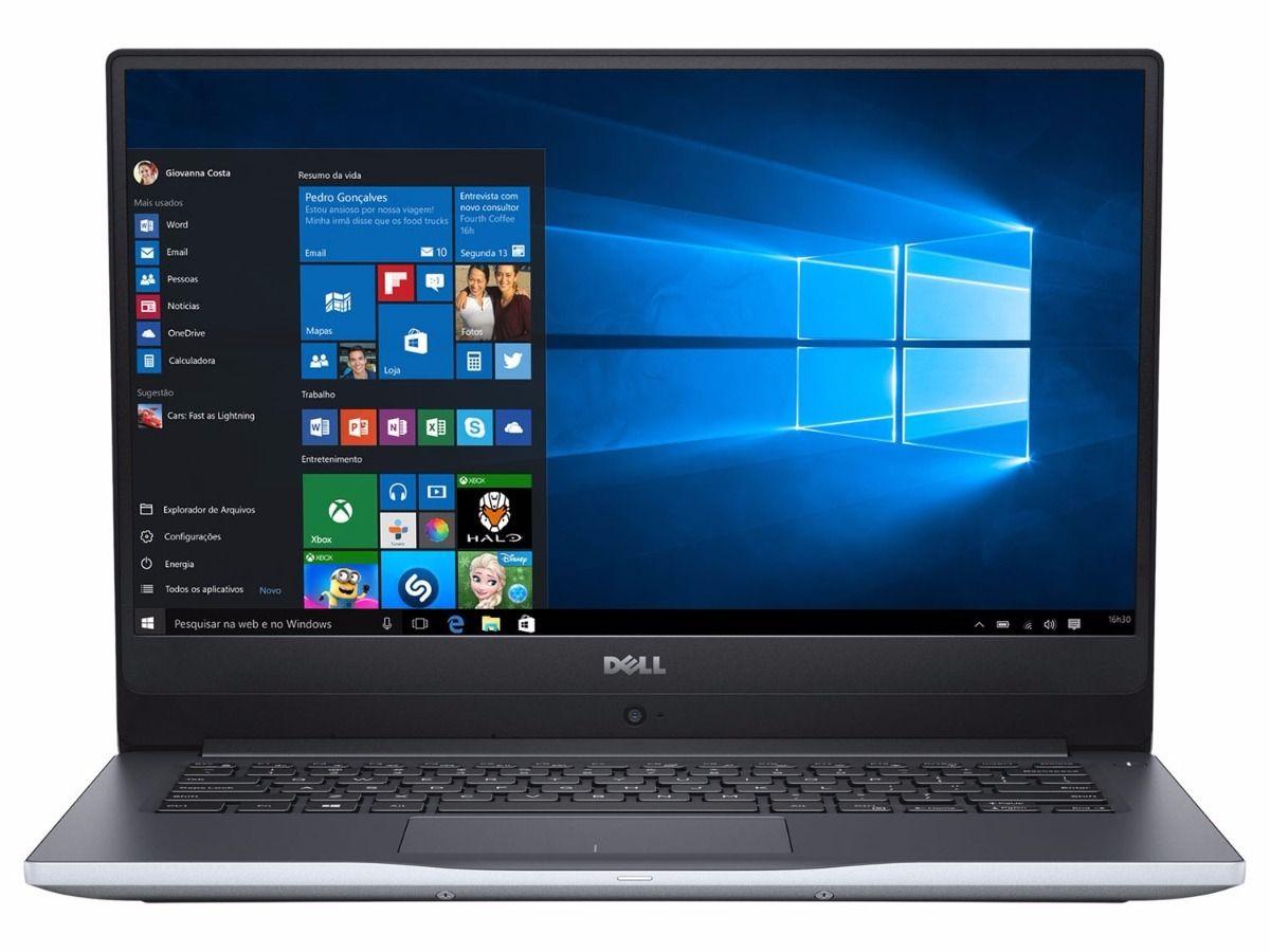 Nb Dell Inspiron 7460 I5-7200U 2.5Ghz/1Tb/8Gb/Gf940Mx(4Gb)/Cam/14/W10Pro/Prata