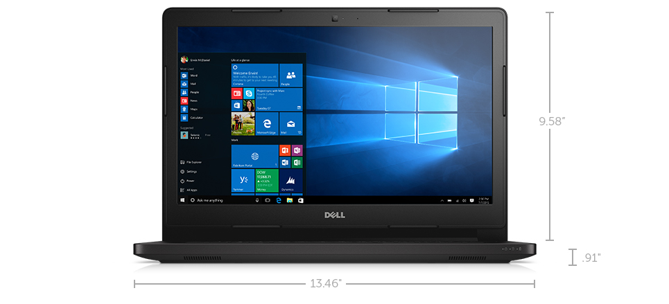 Notebook Dell Latitude E3470  I3 6100U| 500Gb| 4Gb| Webcam| 14|W10 Dwn7 Pro Preto
