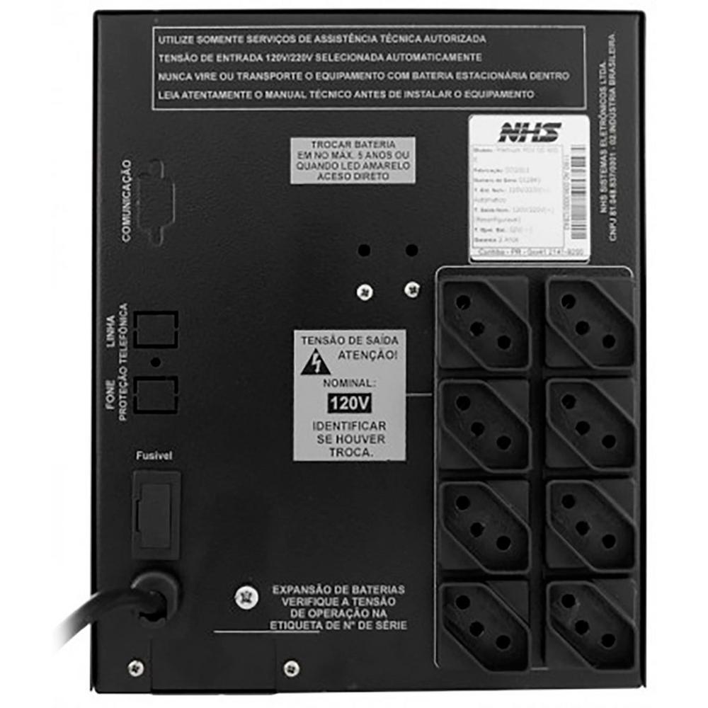 Nobreak Premium Pdv Gii 600Va Nhs (C/ 1 Bat 45Ah)