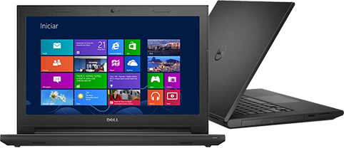 Notebook Dell Inspiron 3442 Core I3-4005U 1.7Ghz| 1Tb| 4Gb| Dvd| Wifi| Cam| Tela 14| Win 10Home
