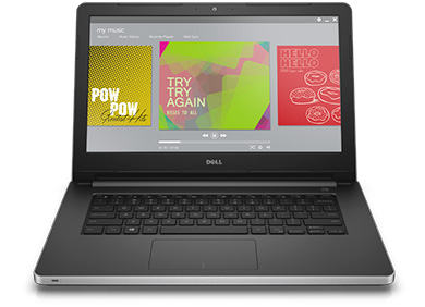 Notebook Dell Inspiron 5458 Core I3-4005U 1.7Ghz|1Tb|4Gb|Dvd |Wifi |Webcam |Tela 14 |W10Home| Preto