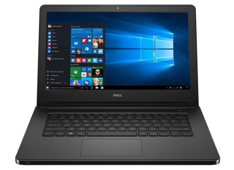 Notebook Dell Inspiron 5458 Core I3-5005U 2.0| 1Tb| 4Gb| Webcam| 14| Linux Preto