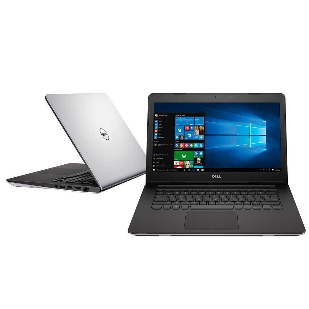 Notebook  Dell Inspiron 5458 Core I3-5005U 2.0| 500Gb| 4Gb| Cam| 14| W10Home Cinza