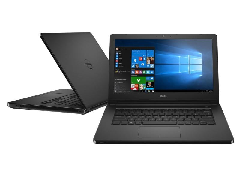 Notebook Dell Inspiron 5458 Core I3-5005U 2.0| Hd 500Gb| Ram 4Gb| Webcam| Tela 14| Win 10 Pro