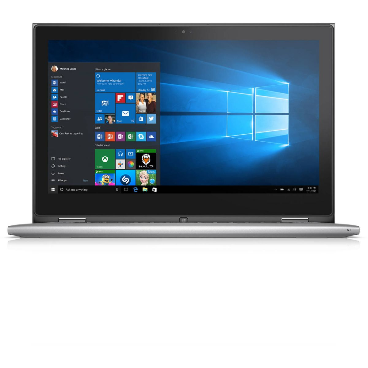 Notebook Dell Inspiron 7359 2-1 I7-6500U 3.1Ghz/500Gb/8Gb/13/Touch/W10Hom/Cinza
