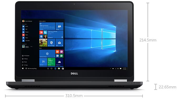 Notebook Dell Latitude 5270 I5-6300 Hd500Gb 4Gb 12 Windows 10 Pro Preto