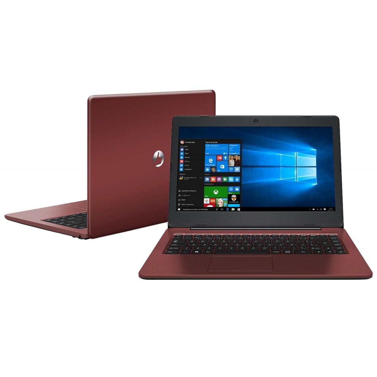 Nb Positivo Stilo Xc3634 Intel N3010 2,4Ghz|4Gb|32Gb|14|W10Home Vermelho