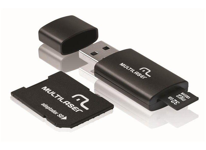 Pen Drive C   Adap Sd + Cart Mem Micros Sd 32 Gb C  Adaptador Mc113 Multilaser