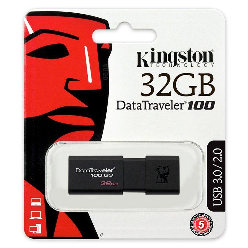 Pen Drive Kingston Data Traveler 100 32Gb Usb3.0 - Dt100G3| 32Gb
