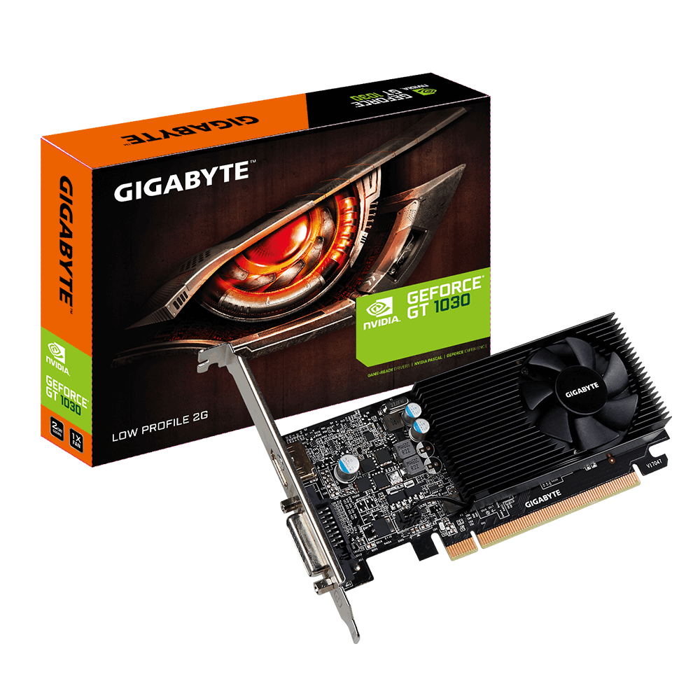 Placa De Vídeo Gt1030 2Gb Gddr5 Low Profile Gigabyte