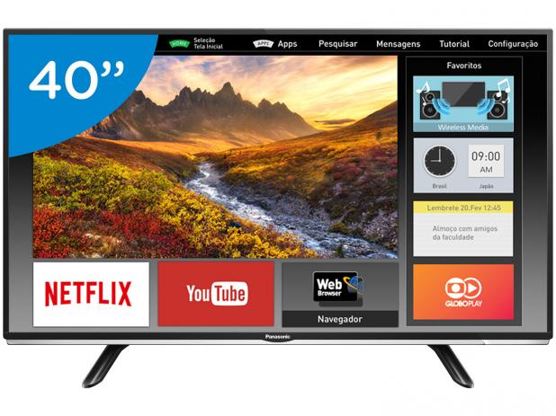 Smart Tv Led 40 Panasonic  Tc-40Ds600B Full Hd Usb Hdmi