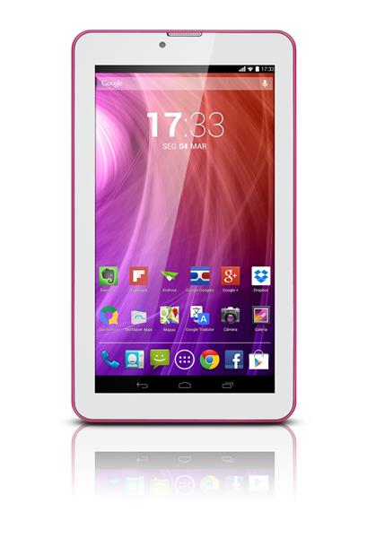 Tablet Multilaser M7S Nb186 Quad Core 8Gb Android 4.4 7 Wifi Rosa
