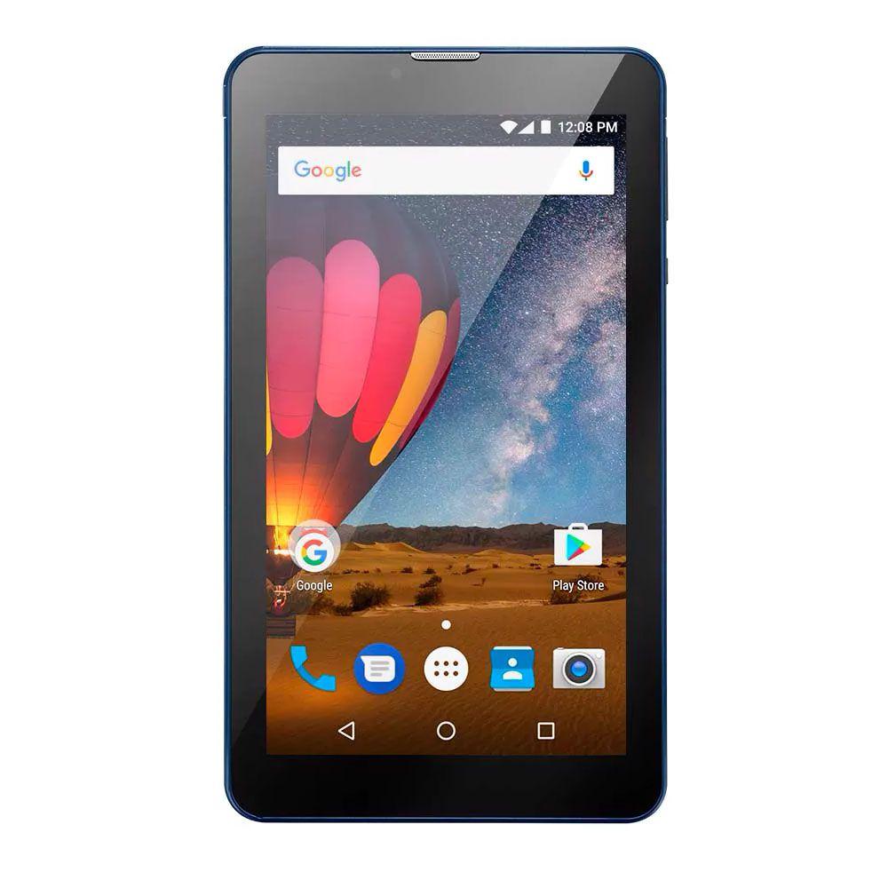 Tablet Multilaser Nb270 M7-3G Plus Cpu 1.3Ghz|8Gb|1Gbram|3G|7Ips Hd| Dark Blue