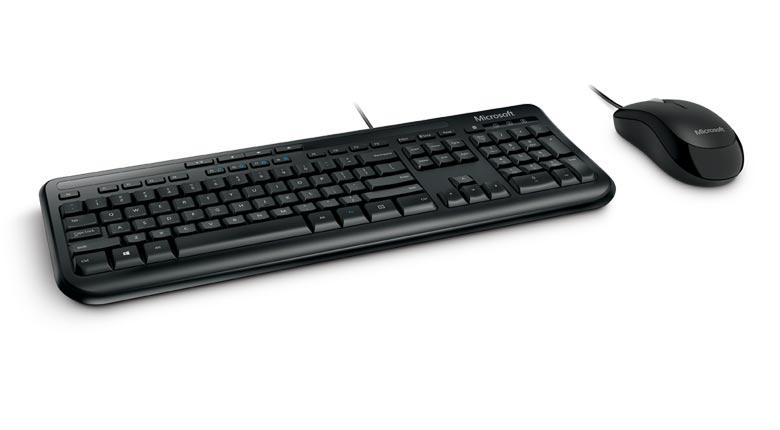 Teclado E Mouse Com Fio Microsoft Wired Desktop 600
